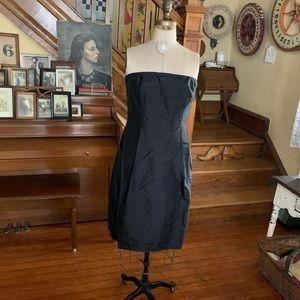 Ann Taylor Silk Dress Bridesmaid NWT BLACK 8